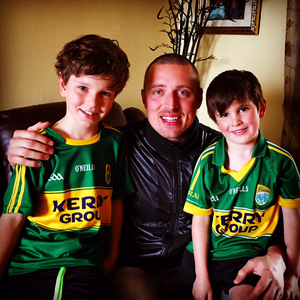 A young Kerry fanatic exiled in Dublin...  It is his 7th birthday tomorrow, and it would make his dreams come true to see Kerry v Dublin this weekend. Credit: Donal O Dwyer