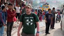 On the ground: Stephen Jenkinson from Terenure Dublin who is working with Goal in Kathmundu, Nepal. Photo: Mark Condren