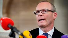 Minister for Housing, Planning and Local Government Simon Coveney speaking at the announcement of details of the housing assistant payment scheme at City Hall. Photo: Steve Humphreys