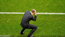 Republic of Ireland manager Martin O'Neill reacts to a missed chance late in the game.