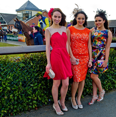 Nadia Forde, Tara Talbot and Daniella Moyles hit the racecourse wearing the latest styles from Coast's Spring Summer collection. Coast will be sponsoring the 'Best Dressed Lady' competition.