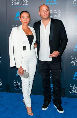 Recording artist Melanie Brown (L) and Stephen Belafonte arrive for the Fifth Annual Critics'  Choice Television Awards in Beverly Hills, California, May 31,  2015. AFP PHOTO / Valerie Macon        (Photo credit should read VALERIE MACON/AFP/Getty Images)