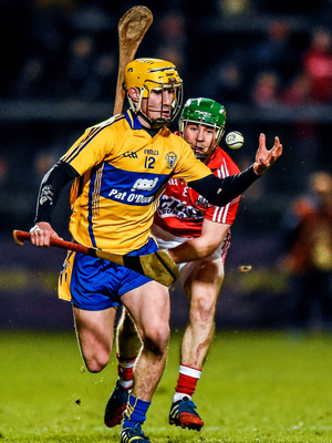 Clare's Colm Galvin in action against Cork during their league match in February