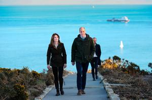 The Duke and Duchess of Cambridge during a visit to Howth Head near Dublin, as part of their three day visit to the Republic of Ireland. PA Photo;: Julien Behal Photography/PA Wire