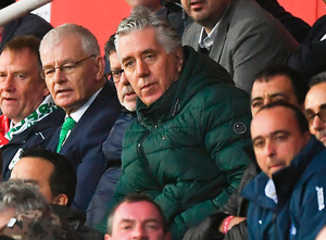 Former FAI chief executive John Delaney watches Ireland's game with Gibraltar on Saturday