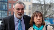 Ian Bailey and his partner Jules Thomas outside court yesterday. Photo: Collins