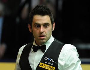 Ronnie O'Sullivan during the World Championships at the Crucible, Sheffield. Picture: Anna Gowthorpe/PA Wire.