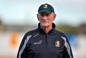Kilkenny manager Brian Cody during a squad training session ahead of their GAA Hurling All-Ireland Senior Championship Final game against Tipperary on Sunday. Barry Cregg / SPORTSFILE
