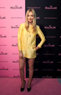 Laura Whitmore  attends the launch party for Magnum Pink and Magnum Black, at The Institute of Contemporary Arts in London.