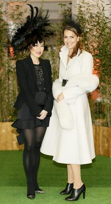 Judges International Shoe designer Lucy Choi with designer Tara Jarmon at the Hennessy Best Dressed Lady in association with Harvey Nichols Dublin