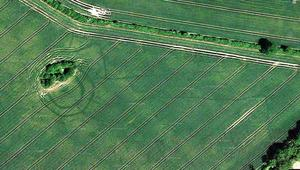 Shadows from history:  Hidden ancient monuments came to light after millennia, revealed by last summer's drought and Google Maps/Earth images including this one at Oldtowndonore, near Clane, Co Kildare