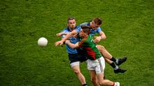 Alan Brogan suffered a concussion in 2015 against Mayo after a collision with Paul Flynn. Picture credit: Dáire Brennan / SPORTSFILE