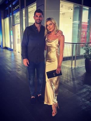 Rob Kearney and girlfriend Jess Redden on holiday in Dubai. Picture: Instagram