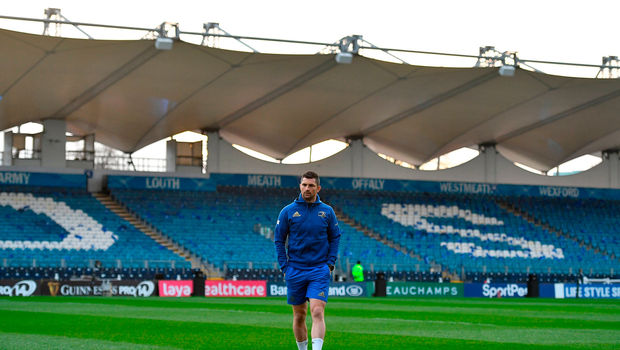 Leinster captain Rob Kearney walks the pitch prior to the Guinness PRO14 Round 13 match between Leinster and Ulster at the RDS Arena in Dublin. Photo by Brendan Moran/Sportsfile