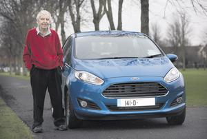 BRAND LOYALTY: Paddy Blaney with his 141-D Ford Fiesta, the 27th Ford he has owned in 27 years. Photo: Tony Gavin