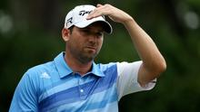 Sergio Garcia of Spain in action yesterday