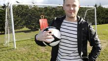 Nicky Byrne pictured during Trials in The AUL Complex Clonshaugh for RTE new Show 'Footballs Next Star'
