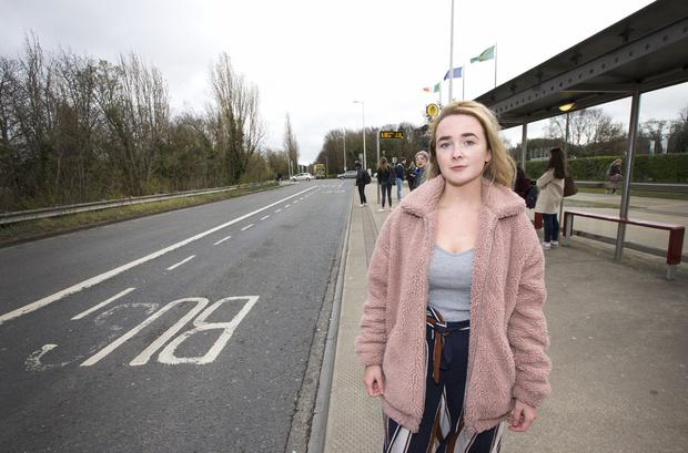 Student Jade Wilson says she is often left stranded by Dublin Bus services