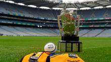 5 September 2014; A view of the Liam MacCarthy Cup in Croke Park ahead of the GAA Hurling All Ireland Senior Championship Final between Kilkenny and Tipperary. Croke Park, Dublin. Picture credit: Paul Mohan / SPORTSFILE