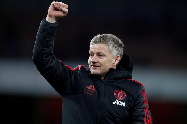 Ole Gunnar Solskajer looking to win at Emirates Stadium for the second time as Manchester United manager. Photo: Reuters/Matthew Childs/File Photo