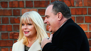 Jobs Minister Mary Mitchell O'Connor and her former adviser Alan Cantwell outside the Department of Jobs, Enterprise and Innovation on Kildare Street. Photo: Steve Humphreys