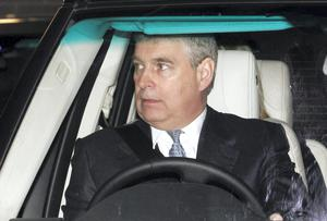 Prince Andrew, who has returned from a skiing trip with his daughters (Reuters/Luke MacGregor)
