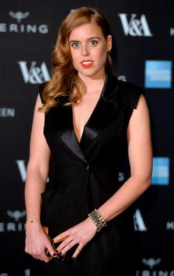 "Princess Beatrice attends a private view for the ""Alexander McQueen: Savage Beauty"" exhibition at Victoria & Albert Museum"