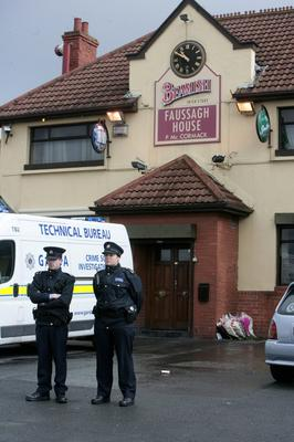 The Fassaugh House Pub in Cabra where the gangland figure was shot six times. Photo: Arthur Carron/Collins