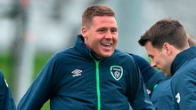 James McCarthy returned to training yesterday ahead of tomorrow night's game against Wales. Photo: Sportsfile