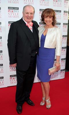 Gavin Duffy and Orlaith Carmody on the Red Carpet at The Peter Mark VIP Style Awards 2015 at The Marker Hotel,Dublin. Pictures Brian McEvoy