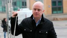Former CEO of Anglo Irish Bank, David Drumm pictured outside the Dublin Circuit Criminal Court. Photo: Collins Courts