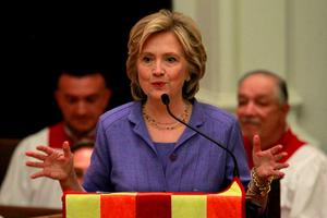 Despite a big fundraising advantage and a slew of endorsements from party leaders, Mrs Clinton's standing with voters has slipped