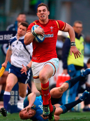 Wales winger George North appears to be carrying the weight of the world on his broad shoulders. Photo: David Rogers/Getty Images