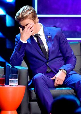 Honoree Justin Bieber onstage at The Comedy Central Roast of Justin Bieber at Sony Pictures Studios