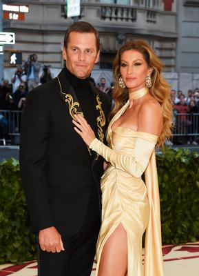 Tom Brady and Gisele Bundchen attends the Heavenly Bodies: Fashion & The Catholic Imagination Costume Institute Gala at The Metropolitan Museum of Art on May 7, 2018 in New York City.  (Photo by Jamie McCarthy/Getty Images)