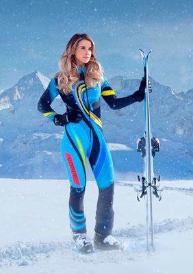 Vogue Williams, one of the contestants in this year's Channel 4 reality sport show, The Jump.
