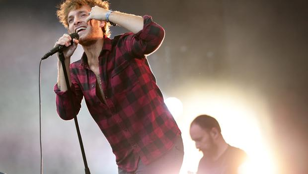 Paolo Nutini performing on the Main Stage at the Isle of Wight Festival, in Seaclose Park, Newport, Isle of Wight. PRESS ASSOCIATION Photo. Picture date: Sunday June 14, 2015. Photo credit should read: Yui Mok/PA Wire