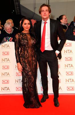 Marnie Simpson and Lewis Bloor attends the National Television Awards on January 25, 2017 in London, United Kingdom.  (Photo by Anthony Harvey/Getty Images)