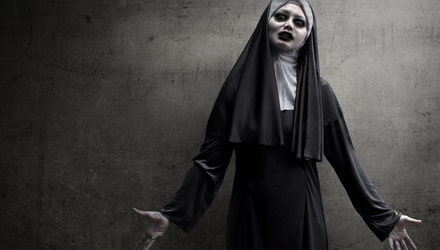 Clowns, zombies and nuns will rule this year. Stock photo.