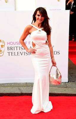 Lizzie Cundy arrives for the House of Fraser British Academy of Television Awards at the Theatre Royal, Drury Lane in London. PRESS ASSOCIATION Photo. Picture date: Sunday May 10, 2015. See PA story SHOWBIZ Bafta. Photo credit should read: Ian West/PA Wire