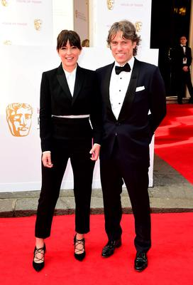 Davina McCall and John Bishop arrive for the House of Fraser British Academy of Television Awards at the Theatre Royal, Drury Lane in London. PRESS ASSOCIATION Photo. Picture date: Sunday May 10, 2015. See PA story SHOWBIZ Bafta. Photo credit should read: Ian West/PA Wire