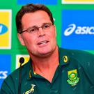Rassie Erasmus has reverted to his director of rugby role, allowing his long-standing defence coach to assume control of the national team. Photo by Johan Rynners/Gallo Images/Getty Images