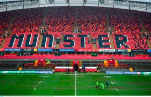 21 January 2018; Ground staff work on the pitch prior to the European Rugby Champions Cup Pool 4 Round 6 match between Munster and Castres at Thomond Park in Limerick. Photo by Diarmuid Greene/Sportsfile