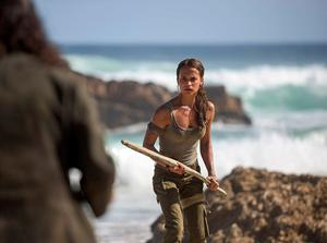 Alicia Vikander as Lara Croft in Warner Bros. Pictures and Metro-Goldwyn-Mayer Pictures' action adventure Tomb Raider. Photo by Graham Bortholomew.