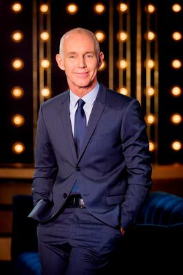 """Ray D'Arcy pictured on the set of his new RT? show """"The Ray D'Arcy Show."""" The new series starts on Saturday September 26th on RT? One at 21:45 Picture Andres Poveda"""
