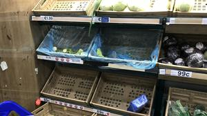 Empty shelves in some of the supermarkets the Herald visited yesterday to investigate shortages
