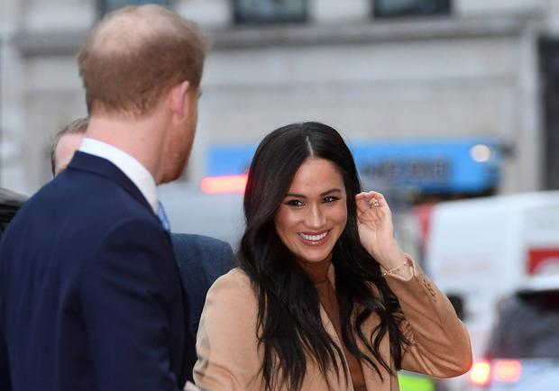 Britain's Prince Harry and his wife Meghan, Duchess of Sussex, arrive at Canada House in London, Britain January 7, 2020. REUTERS/Toby Melville