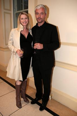 12/9/13 Pamela Flood and Ronan Ryan at the launch of the Louise Kennedy Autumn/Winter 2013 collection at the Hugh Lane Gallery in Dublin. Picture:Arthur Carron/Collins