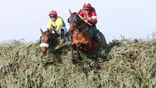 Davy Russell and Tiger Roll on their way to winning a second successive Grand National last April. Pic: Racing Post