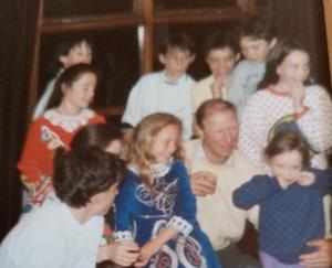 Jack Charlton with the Kerins family